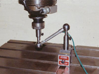 Illustration of machine tool calibration using a ball bar